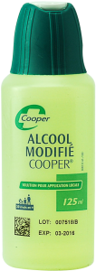 Alcool modifie cooper, solution pour application cutanée